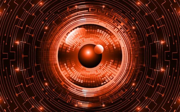 オレンジ目サイバー回路将来の技術コンセプトの背景