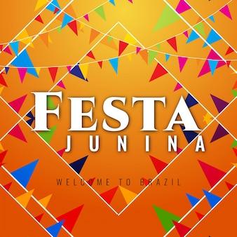 Orange festa junina design