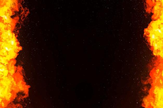 オレンジの炎が燃えるボーダーフレーム