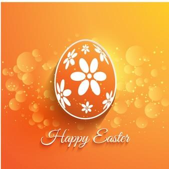 Orange Flat Easter Egg Background