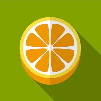 オレンジ色のフラットアイコンイラスト孤立ベクトル記号記号