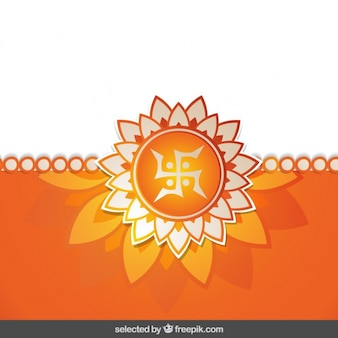 Orange floral rakhi background