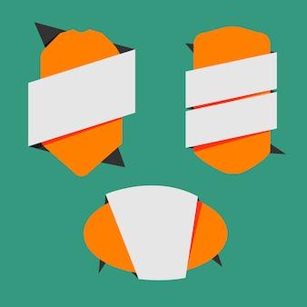 Orange frames to write