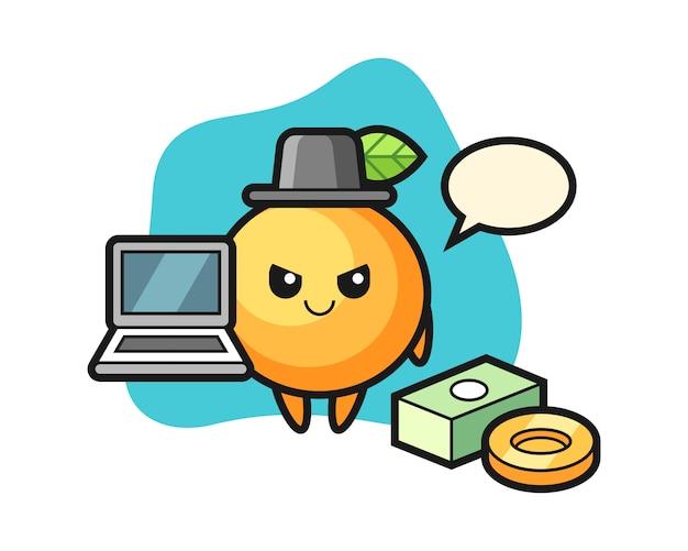 해커로 오렌지 과일 만화