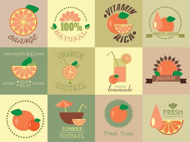 Orange  fruit cocktail and motivate picture - enjoy your summer set