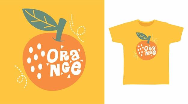 티셔츠 디자인을 위한 오렌지 과일