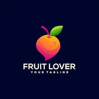 Orange fruit gradient logo design