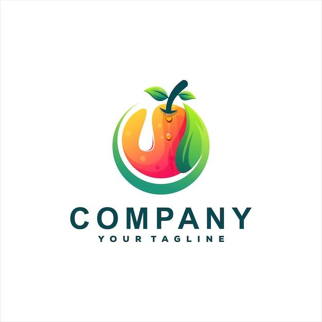 Дизайн логотипа градиента апельсина