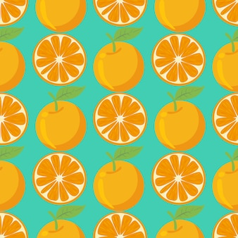 Orange fruit seamless pattern background.