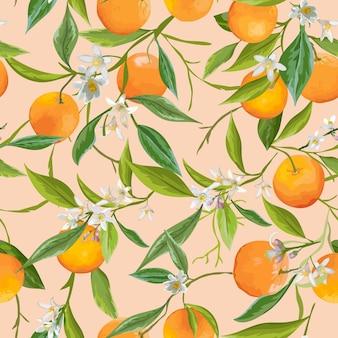 Оранжевые фрукты фон