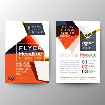 Оранжевый треугольник форма плакат шаблон брошюра листовка