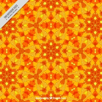 Orange geometric shapes background with yellow details