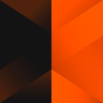 Orange geometrical background design vector