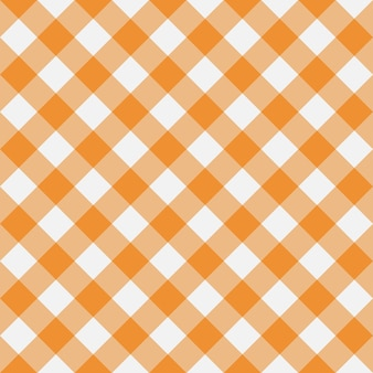 Orange gingham seamless pattern diagonal stripes texture from rhombus for plaid tablecloths