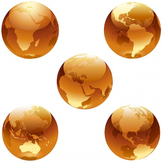 Коллекция orange glass earth