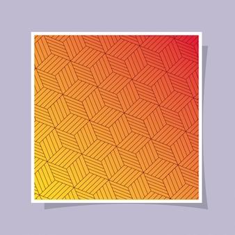 オレンジのグラデーションとパターンの背景、カバーデザイン。