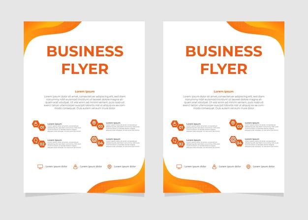 오렌지 그라데이션 비즈니스 전단지 디자인 서식 파일