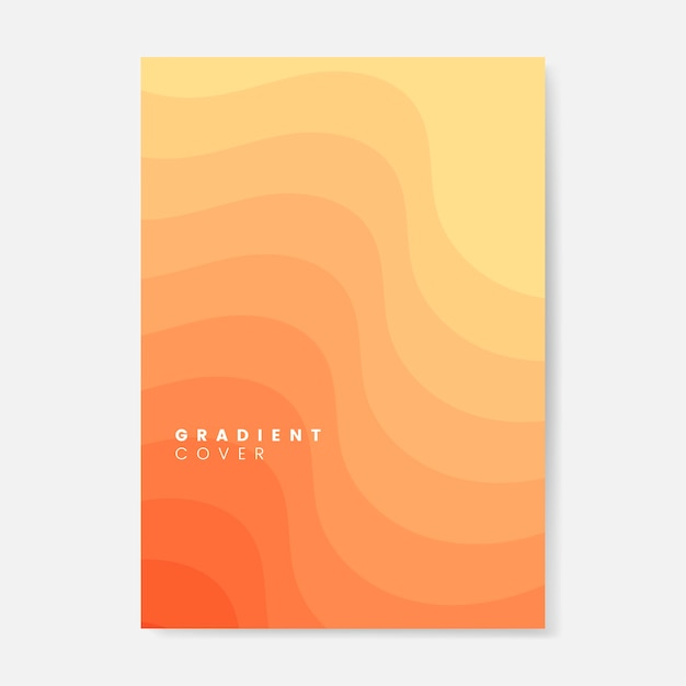 Orange gradient cover graphic design