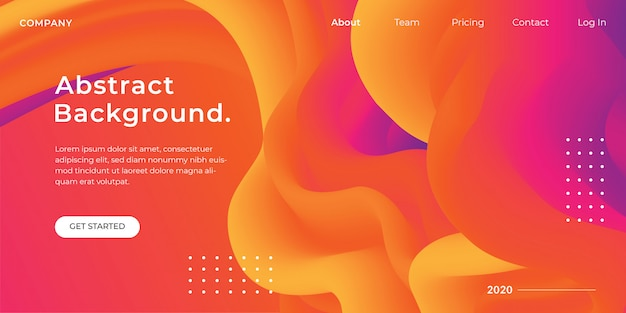 Orange gradient flow background