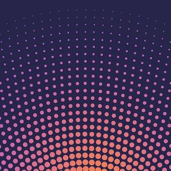 Orange gradient halftone background vector