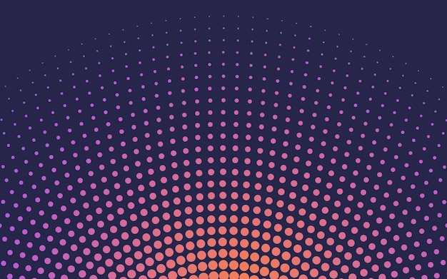 Orange gradient halftone background vector