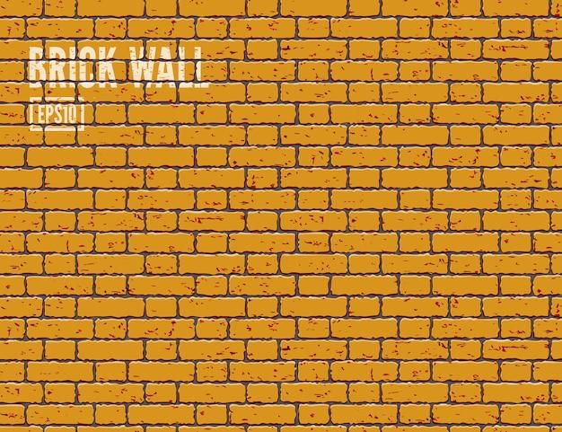オレンジ色のグランジレンガの壁の背景