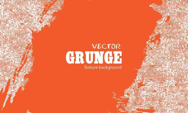 ストライプテクスチャ背景とオレンジ色のグランジ