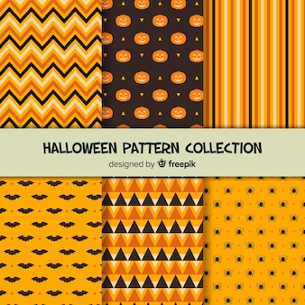 Orange halloween pattern pack