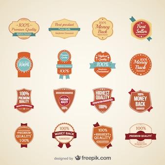 Orange highest quality labels collection