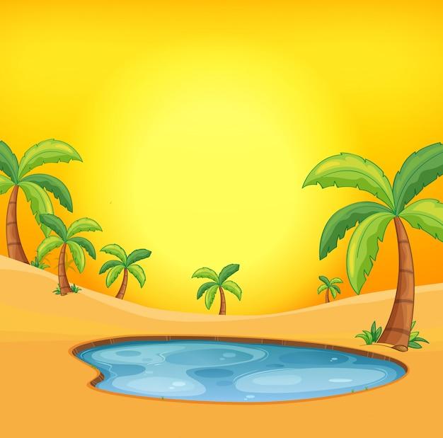 オレンジ色の砂漠の背景