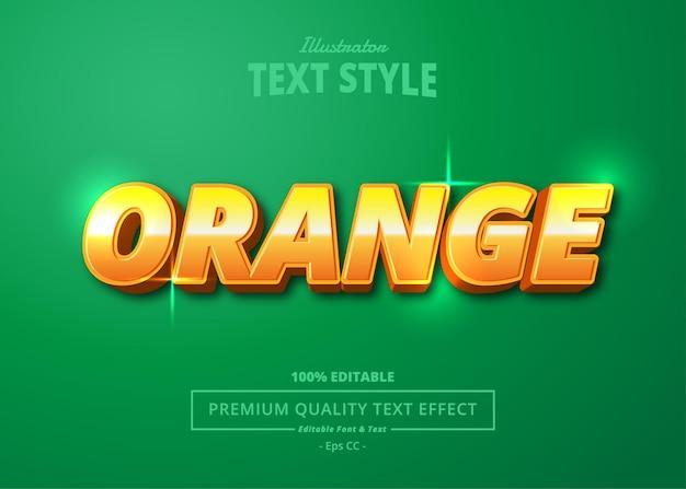 Orange illustrator text effect