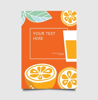 Orange juice bar sign with glass of cold drink