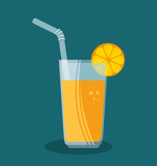 Orange juice fruit icon