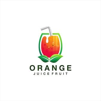 오렌지 주스 그라데이션 로고 디자인