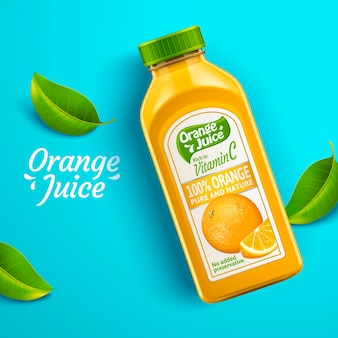 Orange juice package design illustration