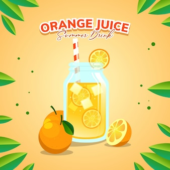 Orange juice for summer drink