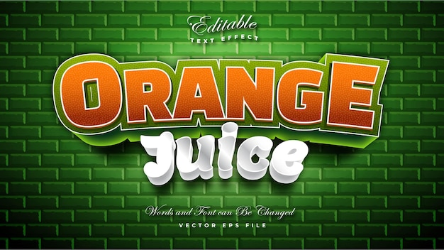 Orange juice text effect