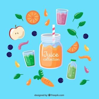 Orange juice with delicious fruits