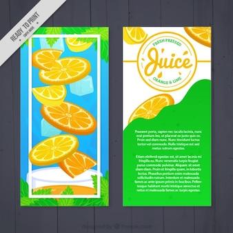 Succo di arancia con volantino di ghiaccio