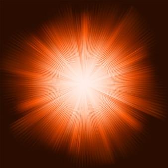 輝く星とオレンジ色の光バースト。含まれるファイル