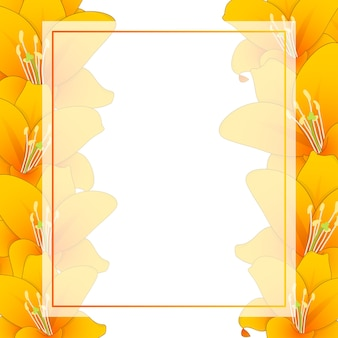 オレンジリリーバナーカードボーダー