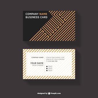 Orange lines business card