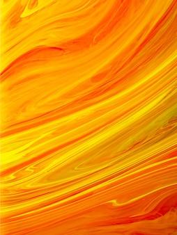 Оранжевый градиент жидкой краски с дизайном линий
