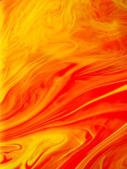 Orange liquid paint gradient with lines design