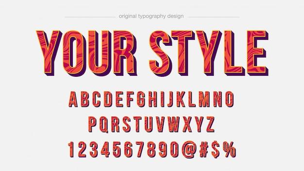 Orange liquid pattern typography