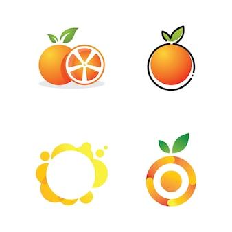 オレンジ色のロゴデザインベクトルアイコンイラスト