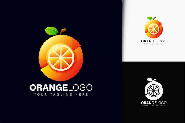 グラデーションのオレンジ色のロゴデザイン
