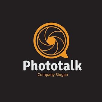 사진 용 주황색 로고