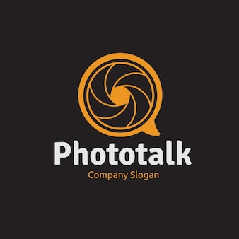 Orange logo for photography