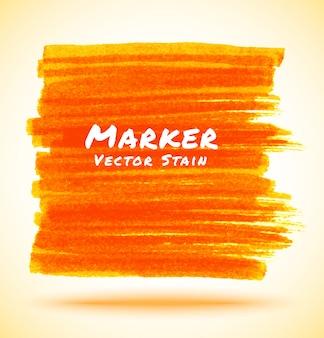 Orange marker stain, illustration